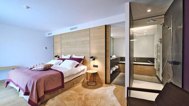 Chambre de l'hôtel le Naxhelet