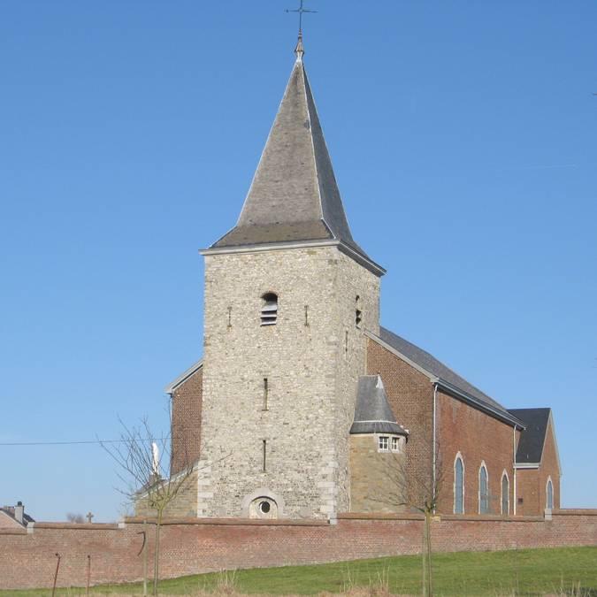 Saint-Hadelin kerk in Lamine