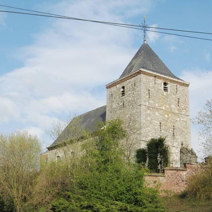 Saint-Hubert kerk te Lens-sur-Geer