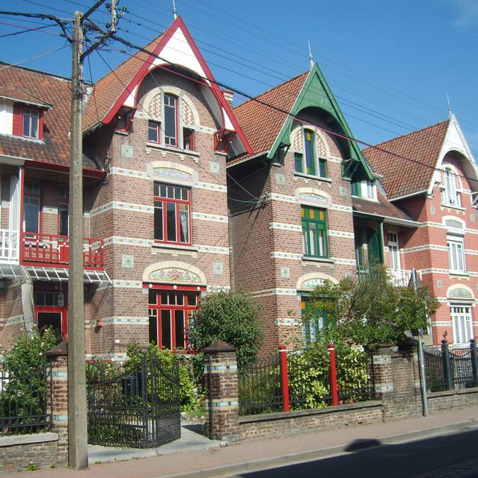 Villas de style art nouveau à Amay